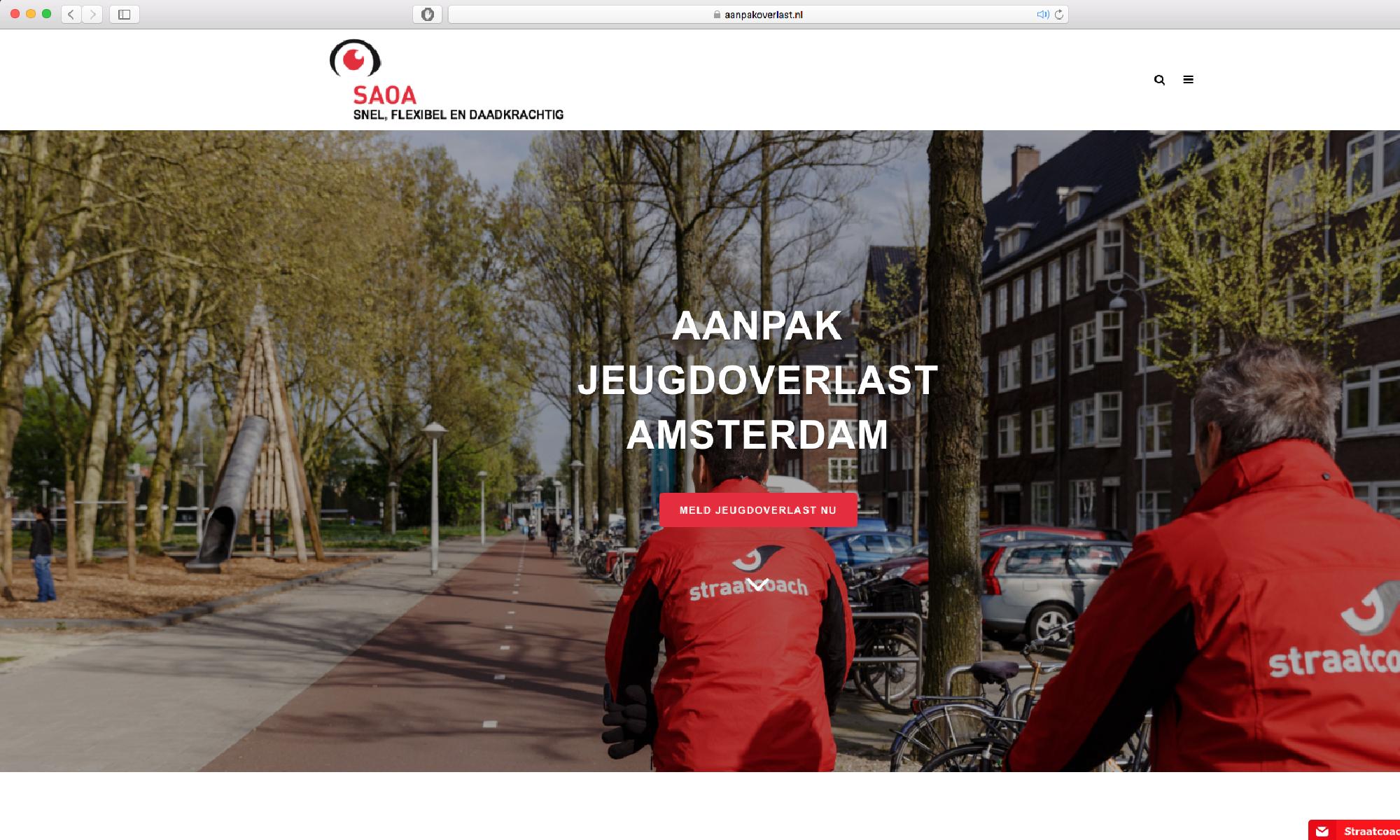 Website portfolio SAOA duidelijk